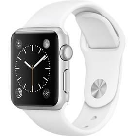 Apple Watch Series 1 38mm pouzdro ze stříbrného hliníku – bílý sportovní řemínek (MNNG2CN/A) + Doprava zdarma