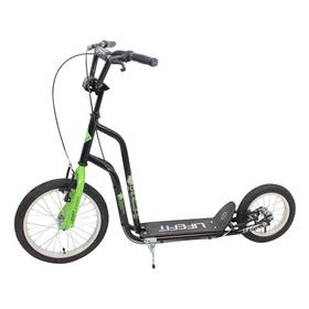 """LIFEFIT Rider 16""""/12"""" černá + Reflexní sada 2 SportTeam (pásek, přívěsek, samolepky) - zelené v hodnotě 58 Kč + Doprava zdarma"""