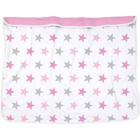 Detská deka Dooky Blanket Pink Stars/Baby Pink