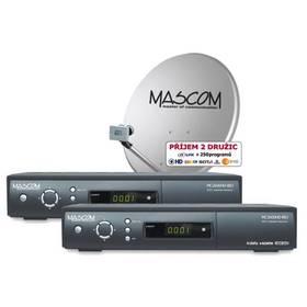 Mascom MC2600HD/80MBL TWIN černý + Doprava zdarma
