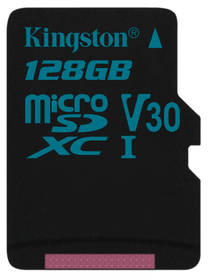 Kingston Canvas Go! MicroSDXC 128GB UHS-I U3 (90R/45W) (SDCG2/128GBSP)
