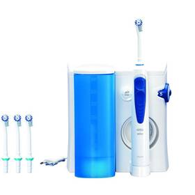 Oral-B Oxyjet MD20 bílá/modrá Gillette Fusion Proglide Flexball + gel (Dárková edice JUSTICE LE