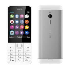 Nokia 230 Dual SIM (A00026951) bílý SIM s kreditem T-Mobile 200Kč Twist Online Internet (zdarma)