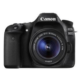 Canon EOS 80D + 18-55 IS STM (1263C033) černý + Doprava zdarma