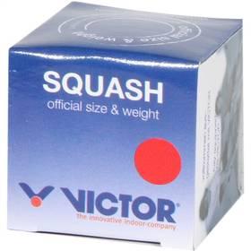 Squash loptička Victor SQUASHBALL red - medium v krabičce čierny