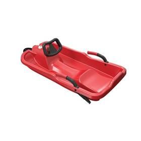 Acra Skibob plastové řiditelné červené + Reflexní sada 2 SportTeam (pásek, přívěsek, samolepky) - zelené v hodnotě 58 Kč