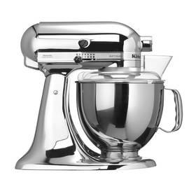 KitchenAid Artisan 5KSM150PSECR chrom Příslušenství k robotu KitchenAid KB3SS nerezová mísa (3l) (zdarma)Příslušenství k robotu KitchenAid 5KFE5T plochý šlehač se stěrkou (zdarma) + Doprava zdarma