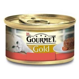 Konzerva Gourmet Gold Savoury Cake s hovězím a rajčaty 85g