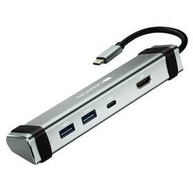 Canyon DS-3 USB-C/HDMI, 2x USB 3.0, USB-C PD 60W (CNS-TDS03DG) stříbrná