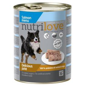 Nutrilove Dog paté Salmon 800g