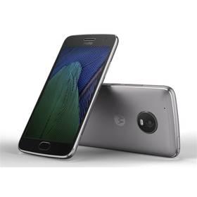 Motorola Moto G Plus 5.generace Dual SIM (SM4470AC3N7 ) šedý SIM s kreditem T-Mobile 200Kč Twist Online Internet (zdarma) + Doprava zdarma