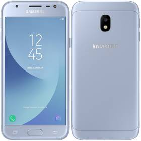 Samsung Galaxy J3 2017 (J330F) (SM-J330FZSDETL ) stříbrný SIM s kreditem T-Mobile 200Kč Twist Online Internet (zdarma)