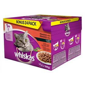 Whiskas klasický výber so zeleninou 24 pack 2,4 kg