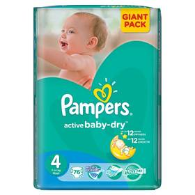 Plienky Pampers Active Baby-dry vel. 4Maxi, 76ks