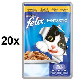 Felix Fantastic s kuřetem v želé 20 x 100g