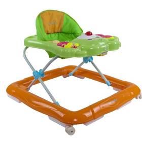 Sun Baby Bear s chrastítky zelené/oranžové
