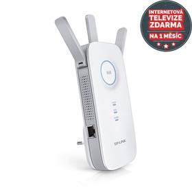 TP-Link RE450 Dual Band + IP TV na 1 měsíc ZDARMA (RE450) bílý