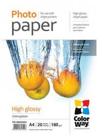 Fotopapier ColorWay 180g/m2, A4/ 20 kusů (PG180020A4)