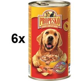 Propesko kousky pes kuře + těstoviny + mrkev 6 x 1240g