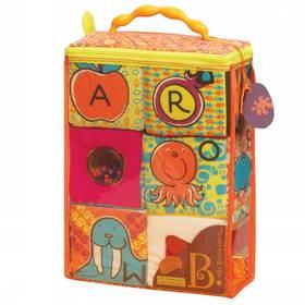 Textilní kostky B-toys ABC Block Party