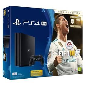 Sony PlayStation 4 PRO 1TB + FIFA18 Ronaldo Edition + PS Plus 14 dní (PS719917267) černá + Doprava zdarma