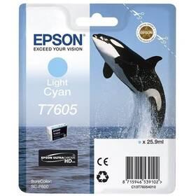 Epson T7605, 25,9 ml, světlá modrá (C13T76054010)