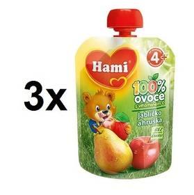 Hami ovocná kapsička Jablíčko Hruška 90g x 3ks