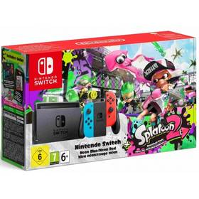 Nintendo Switch s Joy-Con - modro/ červená + Splatoon 2 (NSH010) červená/modrá + Doprava zdarma
