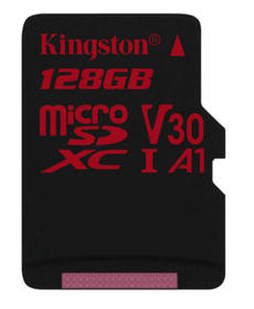 Pamäťová karta Kingston Canvas React microSDXC 128GB UHS-I U3 (100R/80W) (SDCR/128GBSP)