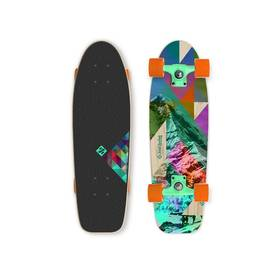 """Street Surfing Kicktail 28"""" Rocky Mountain modrý/zelený/hnědý/fialový + Reflexní sada 2 SportTeam (pásek, přívěsek, samolepky) - zelené v hodnotě 58 Kč + Doprava zdarma"""
