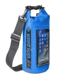 """Celly Voděodolný vak Explorer 2L s kapsou na telefon do 6,2""""  - modré"""