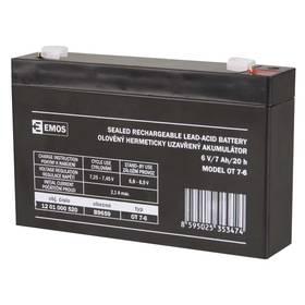 EMOS bezúdržbový 6 V/7 Ah, faston 4,7 mm (B9659)