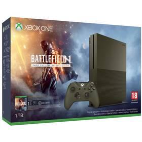 Microsoft Xbox One S 1 TB Speciální edice + Battlefield 1 (234-00046) khaki + Doprava zdarma
