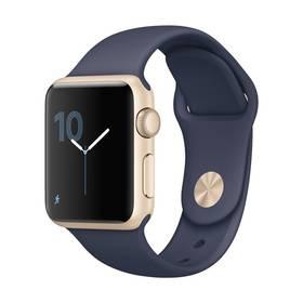 Apple Watch Series 1 38mm pouzdro ze zlatého hliníku - půlnočně modrý sportovní řemínek (MQ102CN/A) + Doprava zdarma