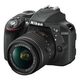 Nikon D3300 + AF-P 18-55 VR + 55-200 VR II černý + K nákupu poukaz v hodnotě 1 000 Kč na další nákup + Doprava zdarma