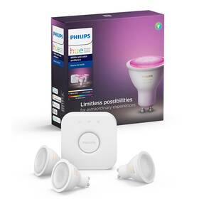 Philips Hue Bluetooth 5,7W, GU10, White and Color Ambiance + Bridge (8718699629274)