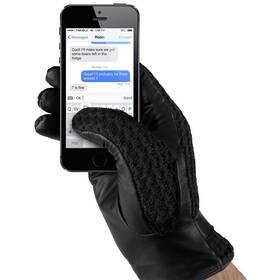 MUJJO Kožené háčkované dotykové - velikost 8 (MUJJO-GLLT-020-80) čierne