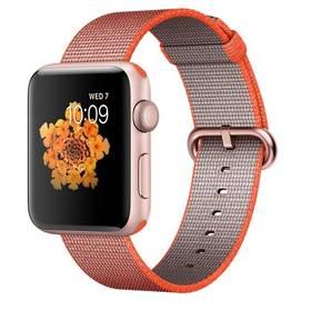 Apple Watch Series 2 42mm pouzdro z růžově zlatého hliníku – vesmírně oranžový / antracitově šedý řemínek z tkaného nylonu (MNPM2CN/A) + Doprava zdarma