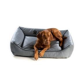 Argi pro psa obdélníkový EKO kůže - 80x65 cm / snímatelný potah šedý + Doprava zdarma