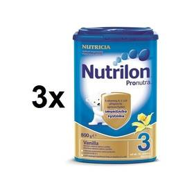 Nutrilon 3 Pronutra Vanilka, 800g x 3ks + DÁREK