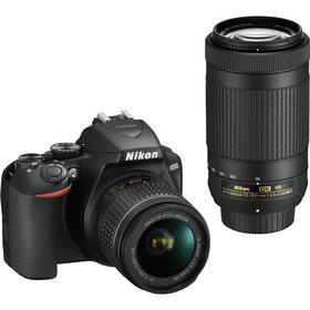 Nikon D3500 + AF-P DX 18-55mm VR + AF-P DX 70-300mm VR (VBA550K005) černý + Cashback 5000 Kč + Doprava zdarma
