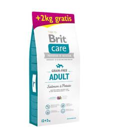 Brit Care Grain-free Adult Salmon & Potato 12 + 2  kg ZDARMA