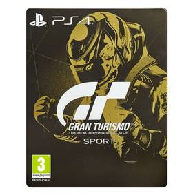 Sony PlayStation 4 Gran Turismo Sport + Digitální bonusový balíček + zlatá SteelBook krabička (PS719831051)