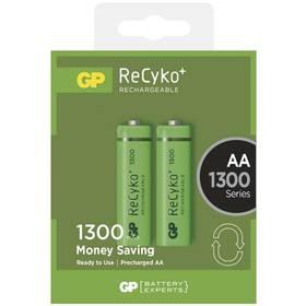 GP ReCyko+ AA, HR6, 1300mAh, Ni-MH, krabička 2ks (1032212010) zelená