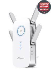 TP-Link RE500 AC1900 + IP TV na 1 měsíc ZDARMA (RE500) bílý