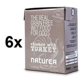 Naturea GF Dog - Chicken, Turkey 6 x 375g