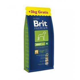 Brit Premium Dog Adult XL 15 kg + 3 kg ZDARMA + Doprava zdarma