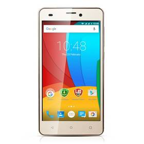 Prestigio Muze A5 Dual SIM (PSP5502DUOGOLD) zlatý + Voucher na skin Skinzone pro Mobil CZ v hodnotě 399 KčSoftware F-Secure SAFE 6 měsíců pro 3 zařízení (zdarma)SIM s kreditem T-Mobile 200Kč Twist Online Internet (zdarma)