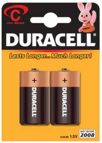 Fotografie Baterie Duracell Copper& black 1400 K2 C (LR14 - 2ks)
