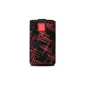 Púzdro na mobil FIXED Velvet Red Split, L (RPVEL-046-L) čierne